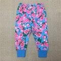 2017 New  Baby Girls Aurumn Pants Girl Floral Print Cotton Leggings Girl's Spring Long Trousers Toddler Fashion Harem Pants 35E