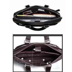 Image 5 - Bolsa masculina de couro, nova bolsa de viagem casual de couro masculina