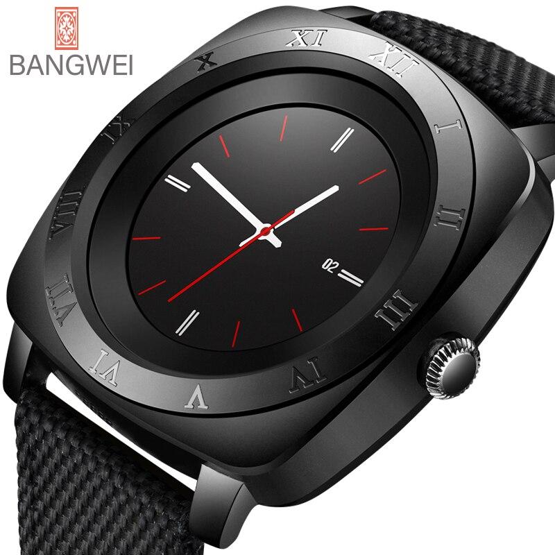 BANGWEI 2018 Nouvelle Marque montre Smart watch Hommes Étanche Militaire Sport montre Numérique Hommes de Casual Nylon Intelligente Horloge Relogio Masculino