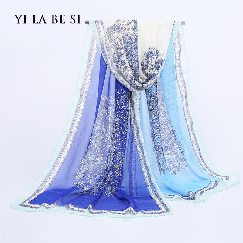 New 2016 Fashion Soft Thin Chiffon Silk Scarf Women Cashew printed Scarves Foulard Sjaal Cachecol Feminino