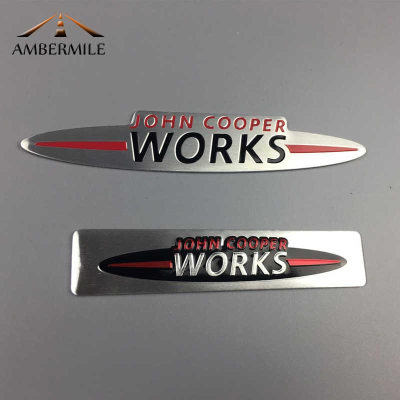 Case for Mini Auto 3D Metal Chrome John Cooper Works Emblem Decal Badge Sticker