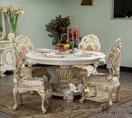 French Classical Furniture Wood Carving Table Italian