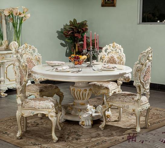 Online kopen wholesale ronde eethoek uit china ronde eethoek groothandel - Dining barokke ...