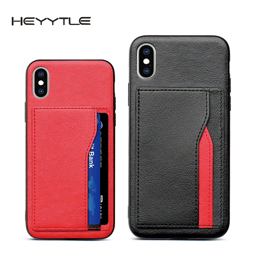 Heyytle Retro PU <font><b>Leather</b></font> <font><b>Case</b></font> For <font><b>iPhone</b></font> 6 <font><b>6s</b></font> 7 8 Plus XS Multi Card Wallet <font><b>Cases</b></font> For <font><b>iPhone</b></font> X XS Max XR Shockproof Cover Coque image