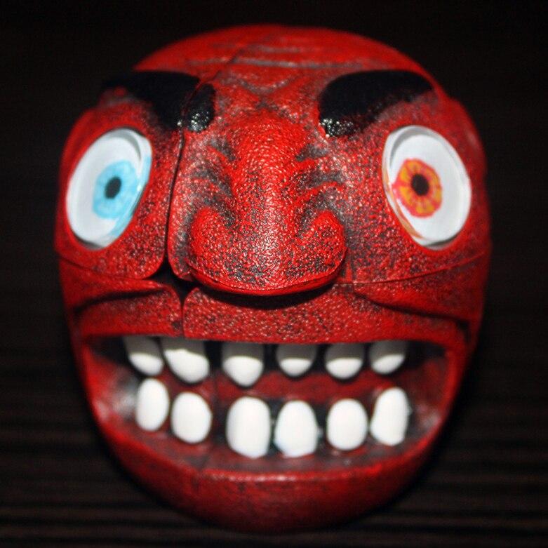 Treu Neue Ankunft Carni Chaak Kiefer Rot Teufel Cube Puzzle Professionelle Magie Cube Puzzle Form Twist Pädagogisches Kid Spielzeug Tropfen Verschiffen Sammeln & Seltenes