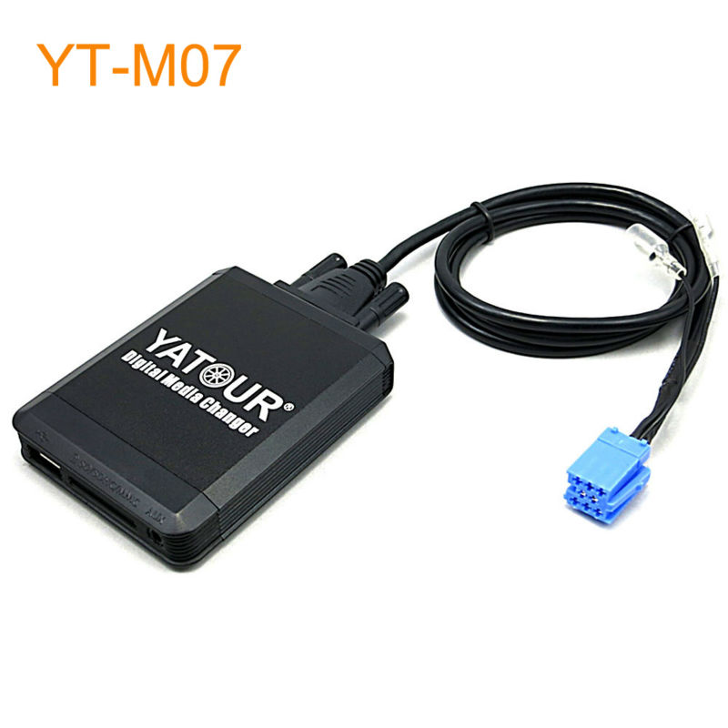 Yatour Car MP3 USB SD CD Changer for iPod AUX with Optional Bluetooth for Fiat Bravio Croma Stilo Punto Panda Idea Doblo Ducato car usb sd aux adapter digital music changer mp3 converter for volkswagen beetle 2009 2011 fits select oem radios