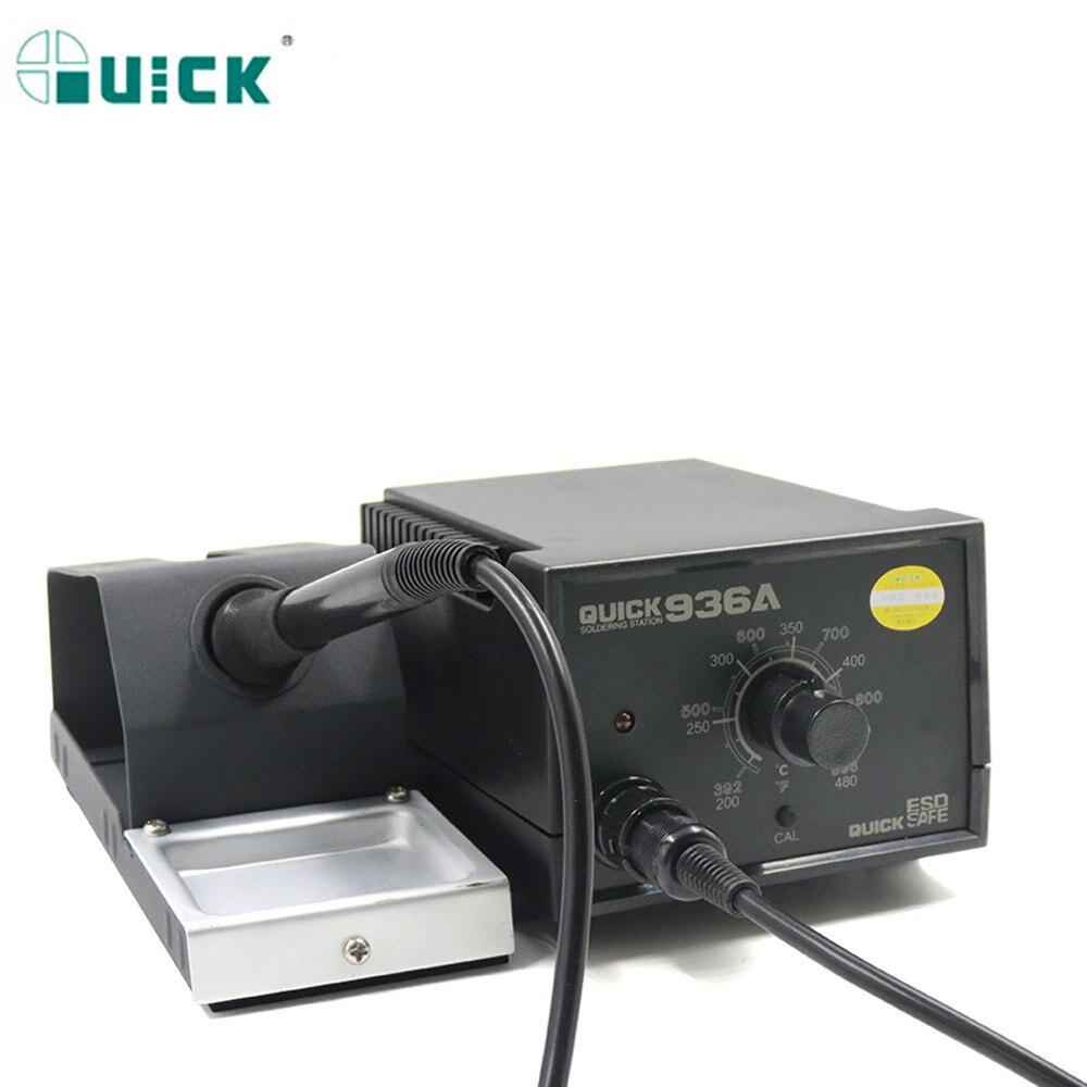 Оригинальный быстрый Электропаяльник 220 в 60 Вт 936A с постоянной температурой 6, паяльная станция SMD с 10 наконечниками паяльника