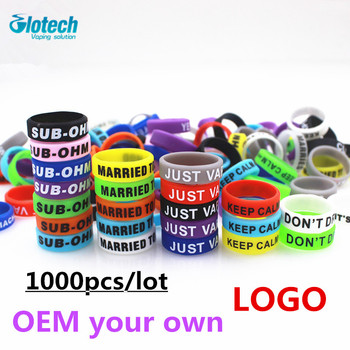 Glotech OEM 1000PCS Silicone rubber band ring Non Slip decorative vape band for e cigarette mods RDA RBA vaporizer OEM own logo