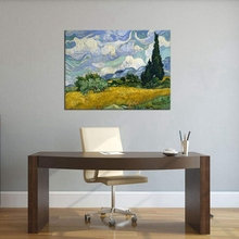Wheat Field with Cypresses Vincent Van Gogh Painting Canvas Wall Art Large Giclee Print Artwork Picture for Home Decoration Gift