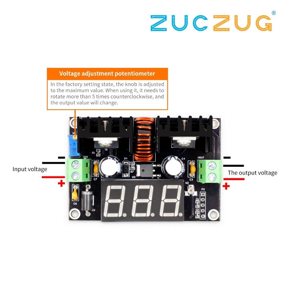 Ac//dc Lm317 Reductor De Voltaje Regulador Fuente de alimentación módulo LED voltímetro