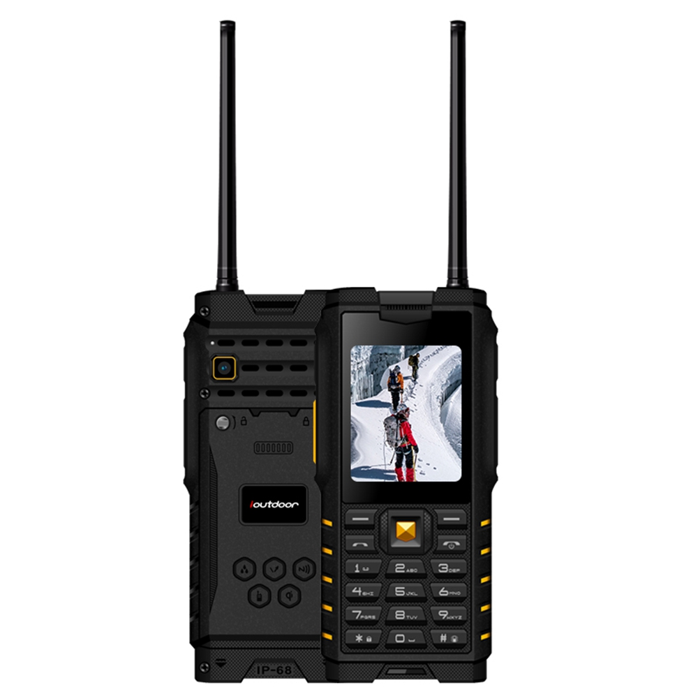 Ioutdoor T2 IP68 Imperméable 2.4 ''4500 mah UHF Talkie-walkie Bluetooth Dual SIM Carte Téléphone Talkie-walkie D'intérieur extérieur