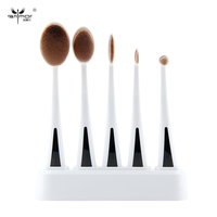 New Arrival 5 PCS Oval Makeup Brushes Soft Makeup Brush Set MULTIPURPOSE Make Up Brushes With