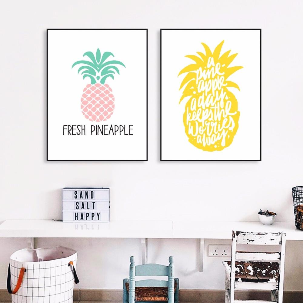 Ananas Quote Abstract Kətan İncəsənət Çap Rəsm Boyama - Ev dekoru - Fotoqrafiya 2