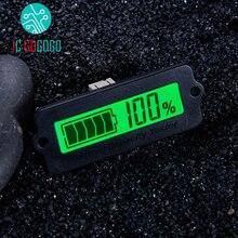 12 V 24 V 36 V 48 V ירוק LY6W מטר תצוגה דיגיטלית LCD מחוון קיבולת סוללה עופרת חומצה LiPo lifePo4 כוח שנותר צג