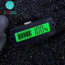 12V 24V 36V 48V Green LY6W Lead Acid Battery Capacity Indicator LCD Digital Display Meter LiPo lifePo4 Remaining Power Monitor