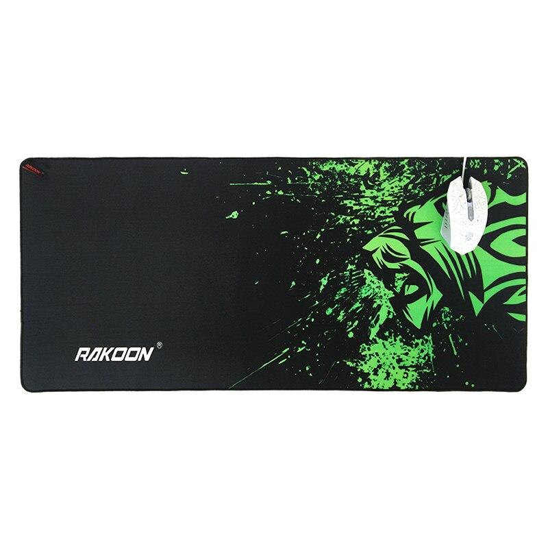 Большой игровой коврик для мыши с зеленым принтом, Противоскользящий коврик для мыши из натурального каучука, коврик для клавиатуры, Настольный коврик для ноутбука, компьютера, геймера, коврик для мыши