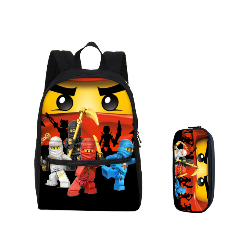 2018 VEEVANV Fashion Girls Bookbags Pencil Case go Ninjago Printing ... bcba75e14c992