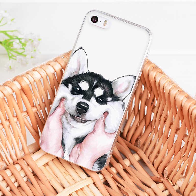 MaiYaCa Para iphone 7 6 X Caso Pug visto coisas cão Chapéu de Leitura Art Phone Case para iphone 8 7 6 6S Plus 5 5S SE 5C 4S XR XS MAX