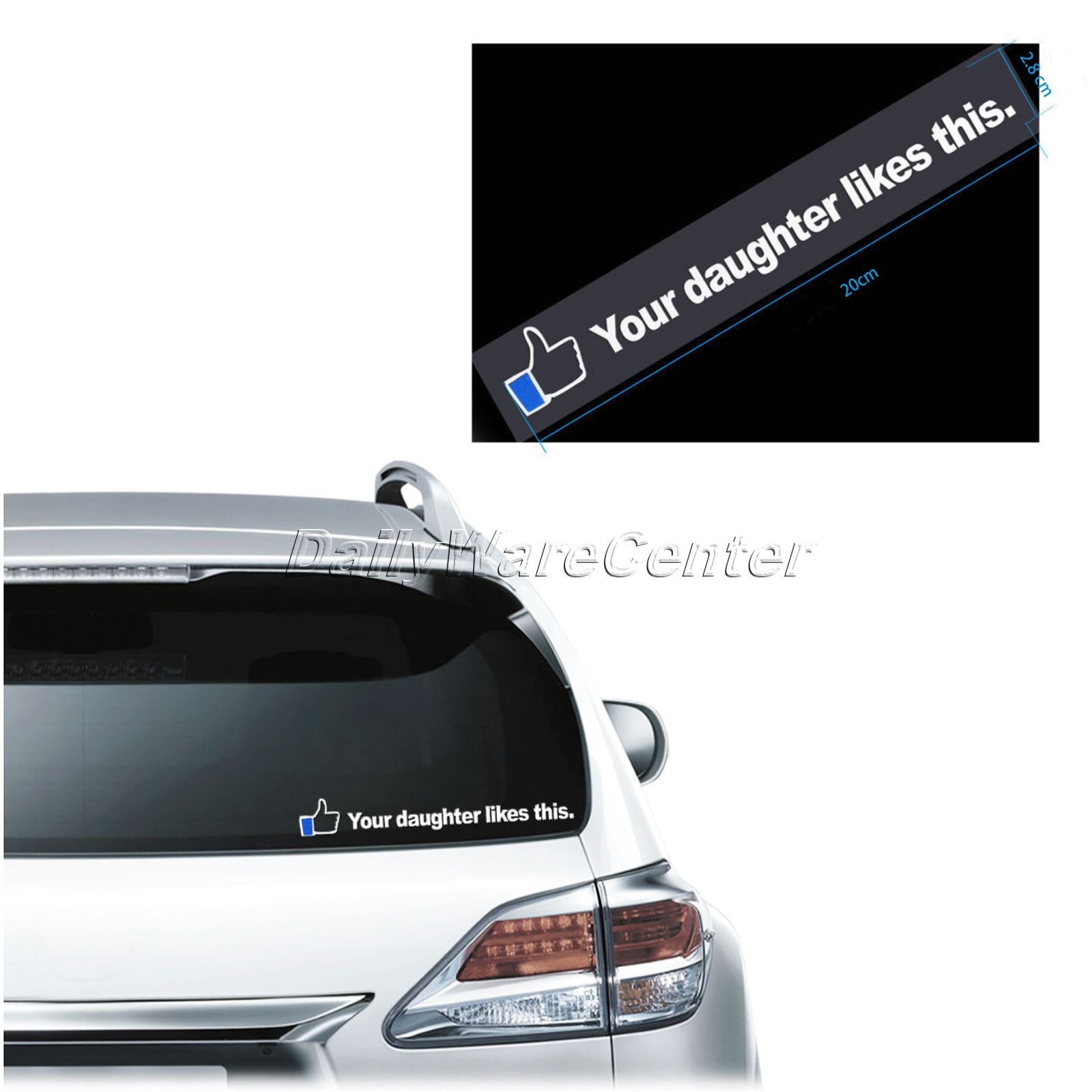 Design your car sticker - Waterproof Car Styling 3d Carbon Your Daughter Like This Car Sticker Decals Car Accessories Stickers On