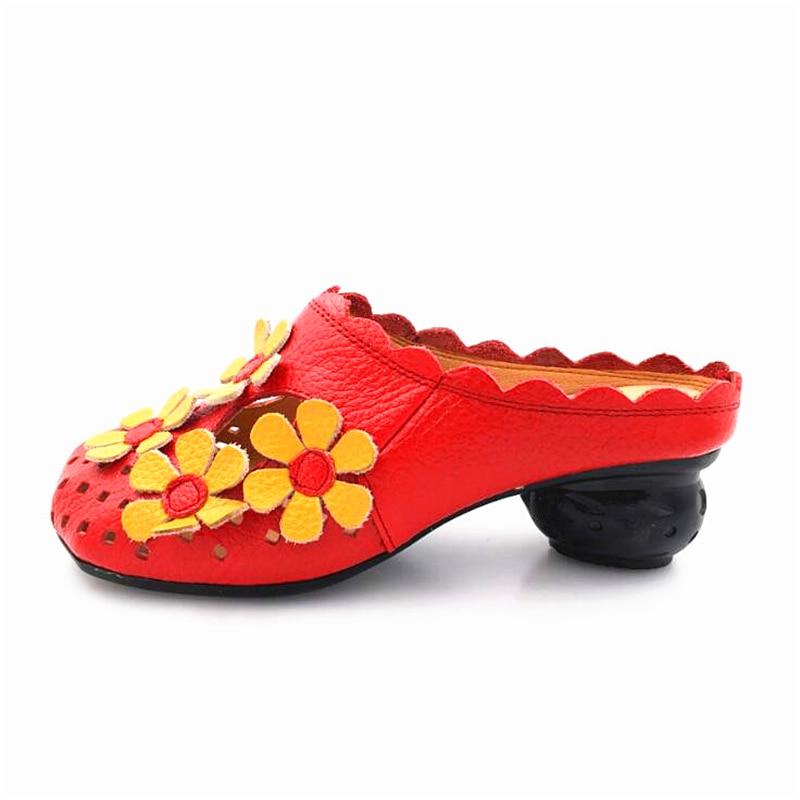 La Main Sandales Femmes rouge Chaussures À Yaerni Pantoufles Confortable Talon Fond Mou Noir jaune Enceintes Femme Creux Casual Plat CdshtQr