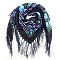 BFDADI New Fashion Ladies Big Square Scarf Printed Women Brand Wraps Hot-Sale Winter ladies Scarves floral Headband Long Tassels