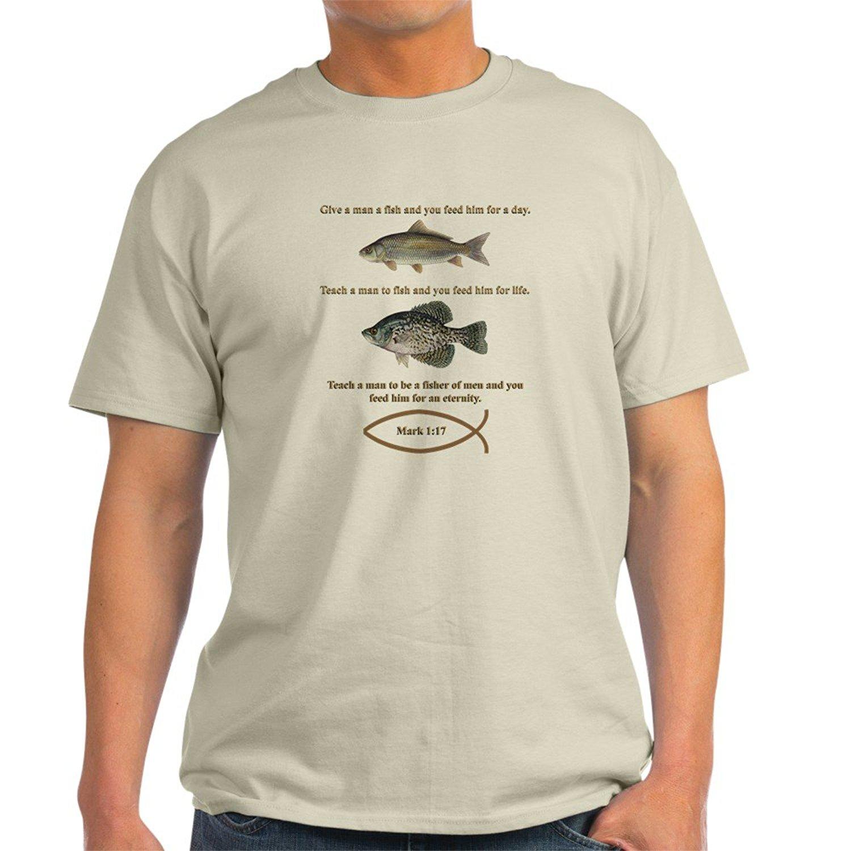 Ушли fishinger Кристиан Стиль свет футболка из 100% хлопка