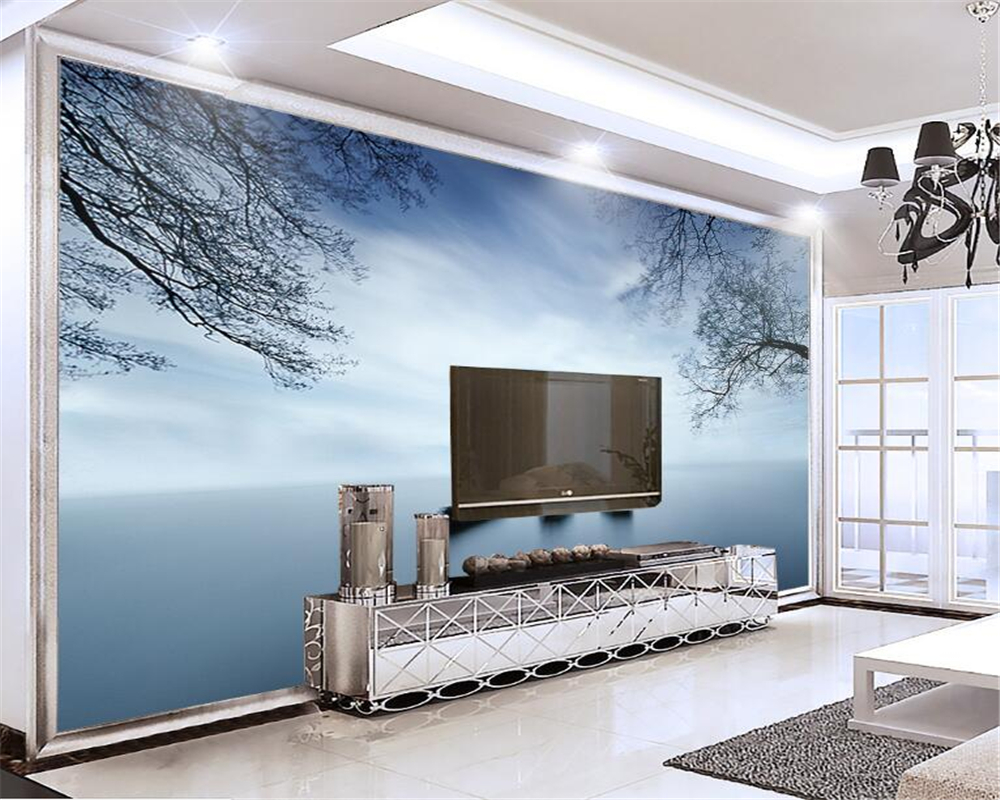 Aliexpress Com Buy Large Custom Mural Wallpapers Living: Beibehang Custom 3d Wallpaper Landscape Murals Living Room