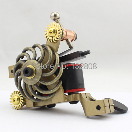 Professional Handmade Tattoo Machine 10-Wrap Coils  Iron Cast Frame Custom  Tattoo Gun For Liner Shader Free Shipping TM-816 new arrival red coil tattoo machine professional 10 wrap coils tattoo frame cheap tattoo machine top steel tattoo gun tm 7320