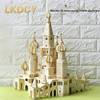 LKDCY 001 3D Stereo Jigsaw Puzzle Wooden Wooden Castle Villa Model Adult Creative Assembly