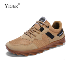 YIGER New Men Sports shoes Spring Casual Catwalk style Oxford sole Four season Man Leisure Lace-up ins  0255