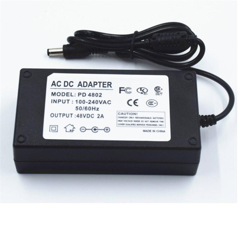 Драйвер для ленты 48 В постоянного тока, трансформатор для освещения на входе 5,5-2,1 В переменного тока, светодиодный источник питания 96 Вт 48 в 2...
