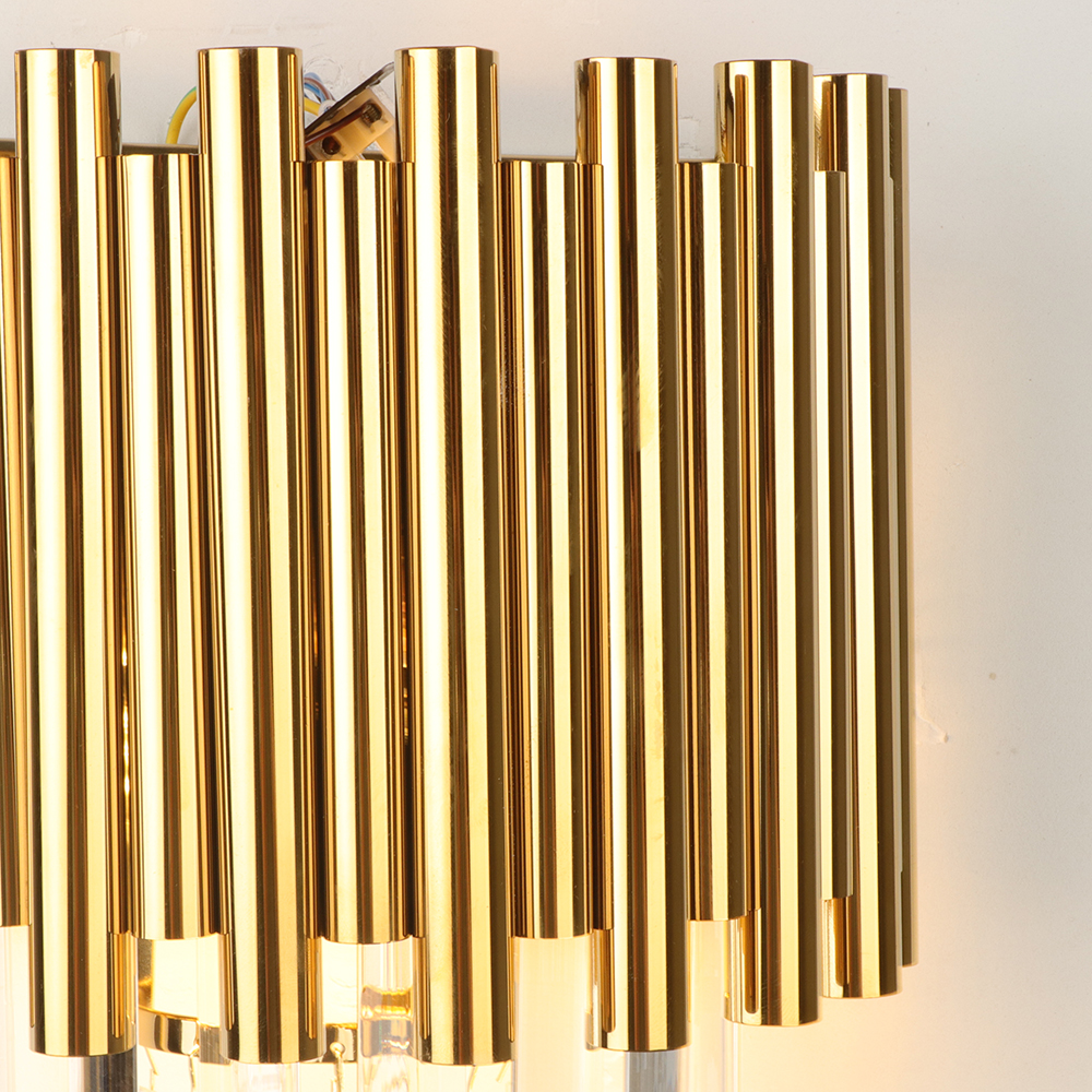 Youlaike Gold LED Wall Sconce Lighting Living Room Bedroom Crystal Wall Lamps AC110-240V Indoor Lighting