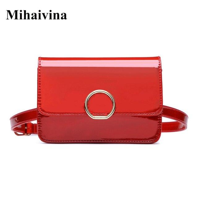 1b66593ec695 Mihaivina высокое качество поясная сумка для женщин Мода из искусственной  кожи сумка на плечо поясная сумка женская сумка на пояс цепочка поясн.