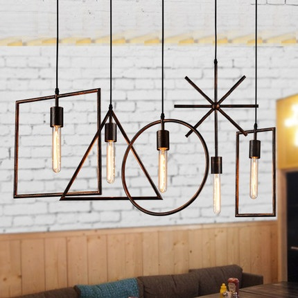Loft Style Iron Droplight Edison LED Pendant Light Fixtures Vintage Industrial Lighting For Dining Room Antique Hanging Lamp
