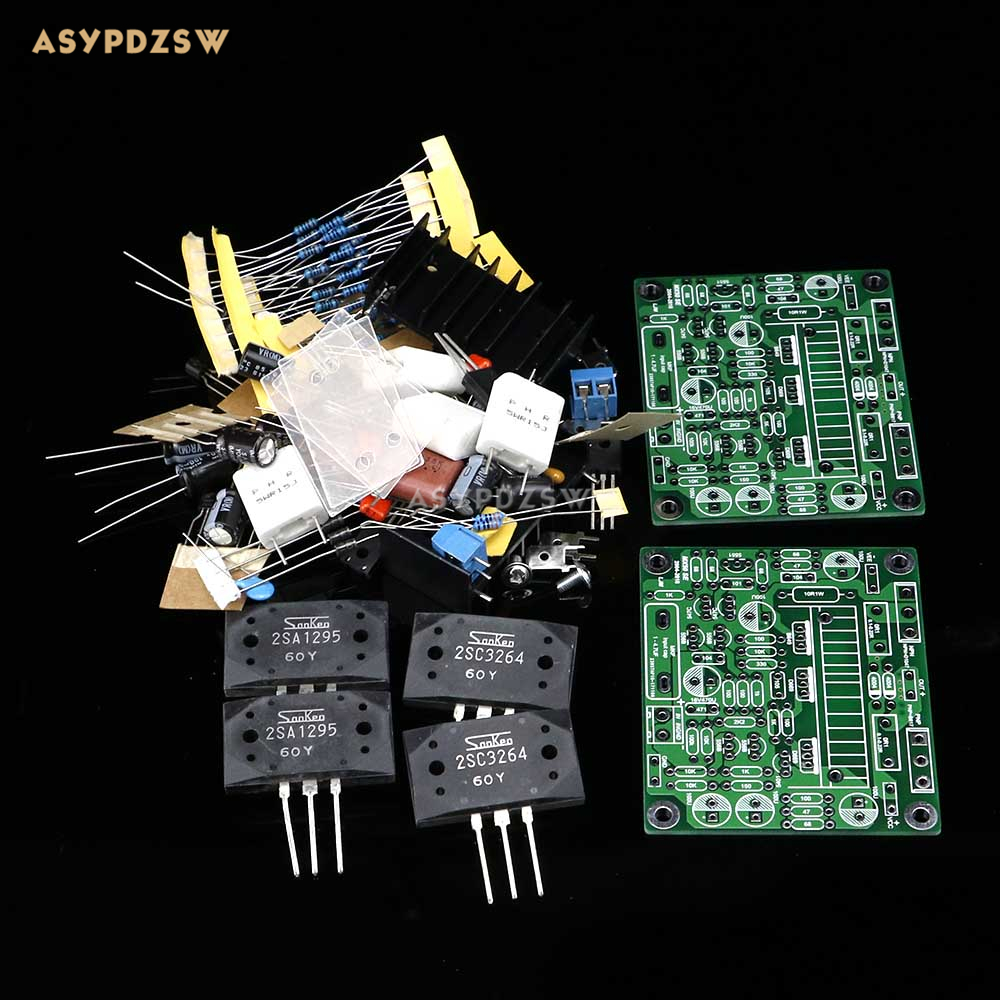 2PCS MX50 SE LAPT 2SA1295 2SC3264 Power amplifier DIY kit Dual Channel power amp