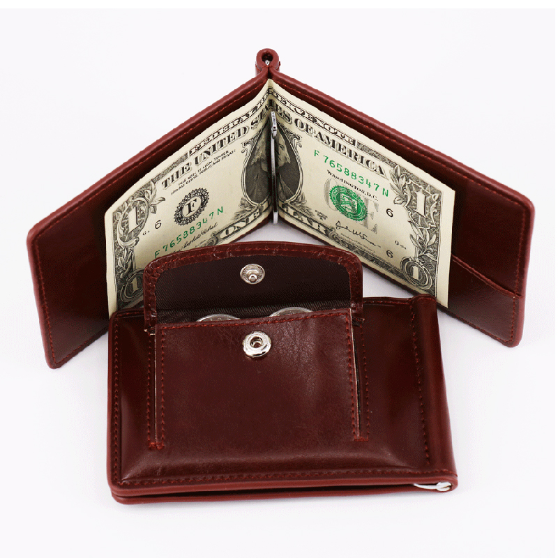 BLEVOLO Wallet Men Short Purses PU Leather Male Clutch Wallets Zero Purse Vintage Mens Money Clips High Quality Coin Wallet Bag