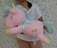 Sanrio Little Twin Stars Pink Unicorn Pillow Cushion Plush Toy 23 NEW