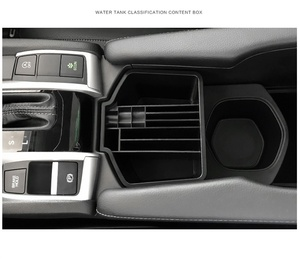 Image 2 - จัดแต่งทรงผม ABS พลาสติกเซ็นทรัลกล่องเก็บถ้วยสำหรับ Honda New Civic 10th 2016 2017 2018 กล่องอุปกรณ์เสริม