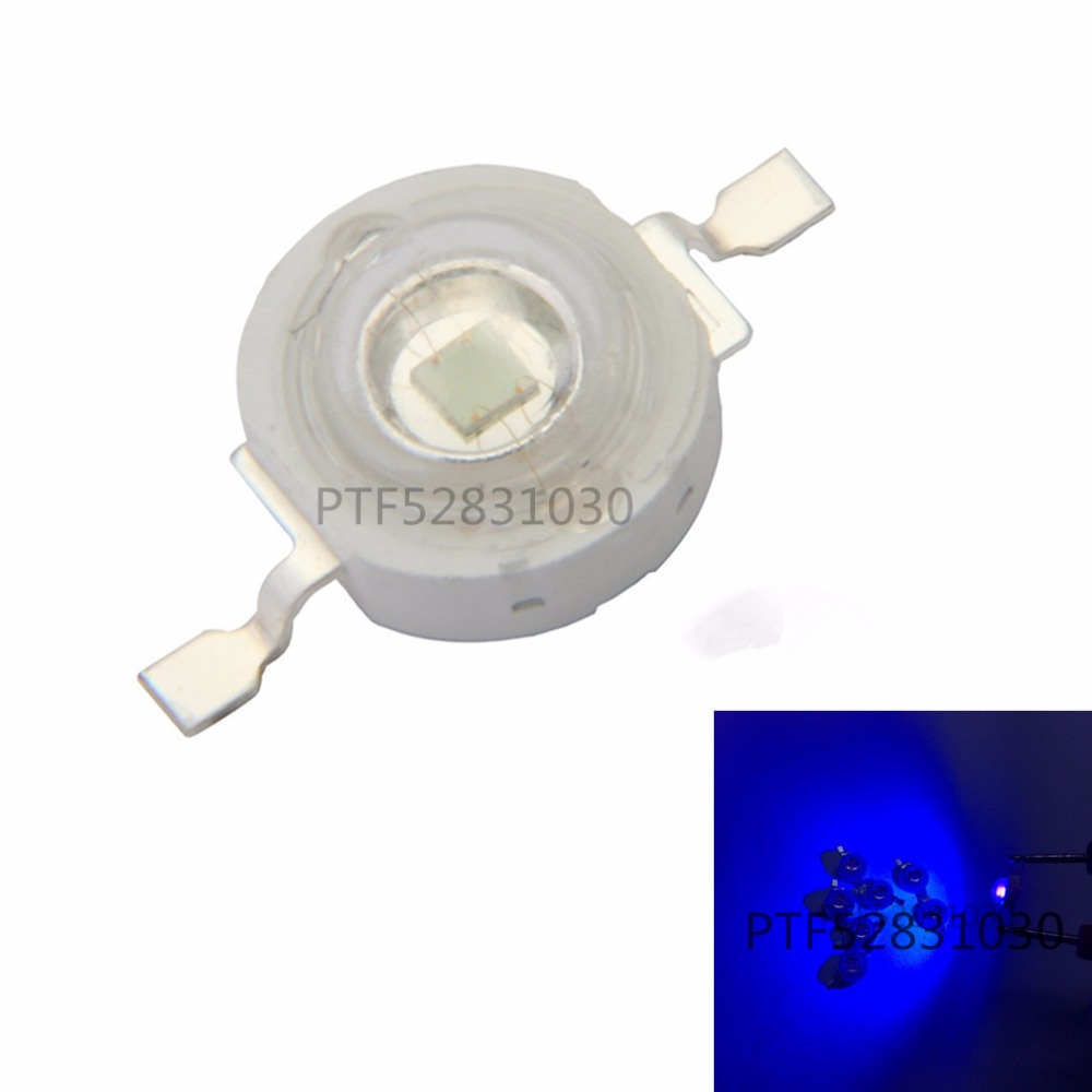 50pcs Freeshipping! 3W 395NM UV LED /Ultra Violet High Power LED Bead Emitter 395-400NM led 3w chip uv led diode