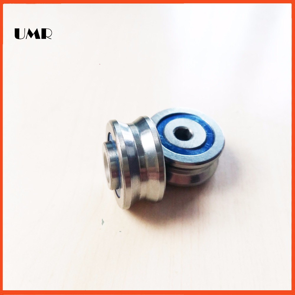 1 piece LV20/6 2RS V Groove Guide roller bearing  LV20/6 RV20 / 6-10 with a threaded hole M4 * 20 * 9 * 11mm 1 piece bu3328 6 6 33 27 5 29 5 mm z25 guide rail u groove plastic roller embedded dual bearing