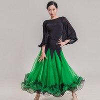 ballroom dance skirt waltz skirt spanish dress flamengo dance top and skirt dance wear women dance costumes ballroom dress