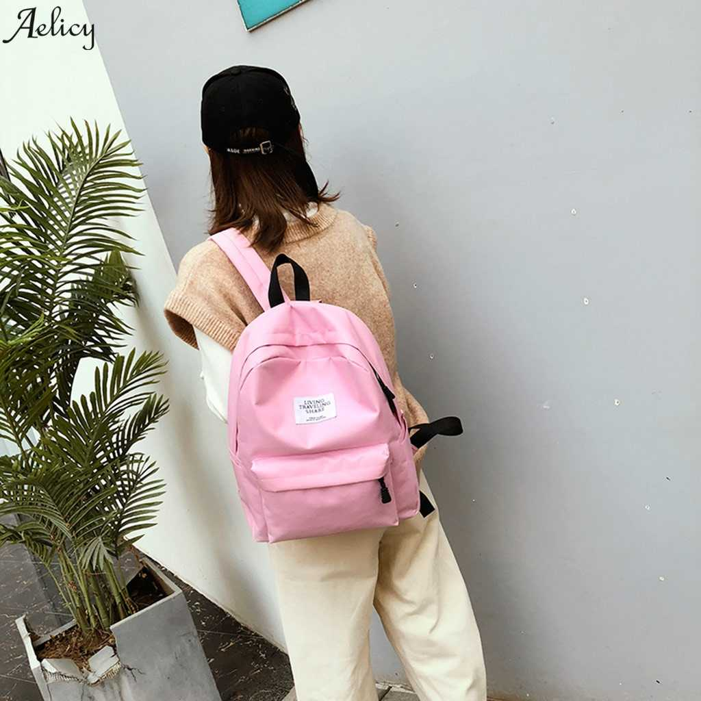 נשים סטודנט תיק תרמיל גדול קיבולת נסיעות מחשב נייד תרמיל בית ספר נשים כתף נסיעות שקיות מכללת כתף תיק תרמיל