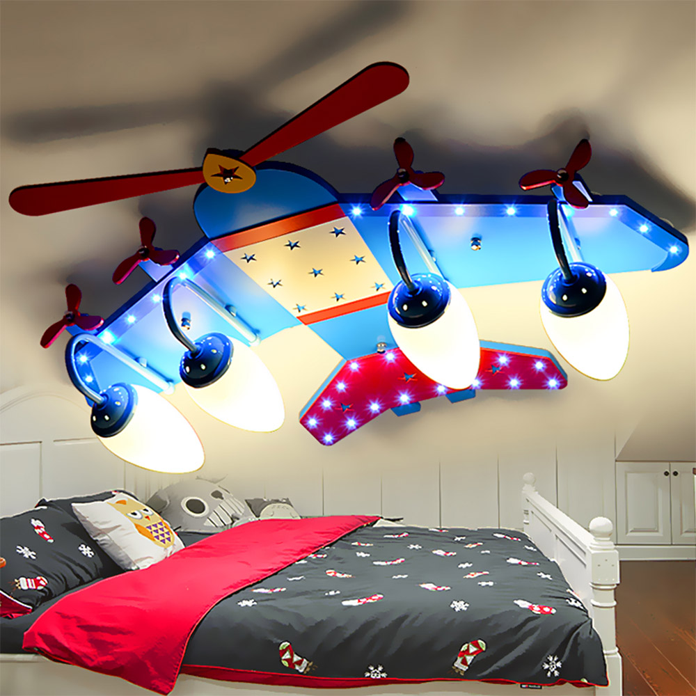 Kids bedroom ceiling lights - Acrylic Cartoon Led Chandelier Ceiling E14 Led 110v 220v Modern Ceiling Lights Kids Bedroom Airplane