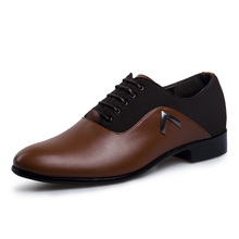 Plus Size 44-47 Mens Pointed Toe Dress Shoes Leather Men Formal Oxfords Spring Leisure Business Men's Shoes Fashion Wedding Flat