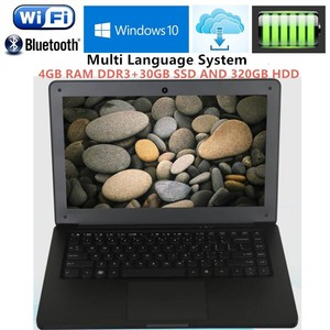 4GB RAM+320G HDD+30G SSD 13.3inch win10 laptops Computer PC Intel Core i3 3227u 1.9GHZ Dual-Core Windows10 System notebook  WiFi