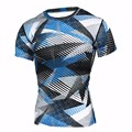 Summer Compression Camouflage Casual Shirt 2016 Fitness Men Short Sleeve Tights Bodybuilding Crossfit Flash Camo T-Shirt