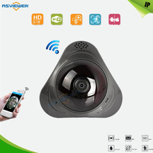 960P 3D VR WI-FI Camera 360 Degree Panoramic IP Camera 1.3MP Fisheye Wireless Wifi Smart Camera TF Card Slot IR 10M AS-VRC301Y(China)