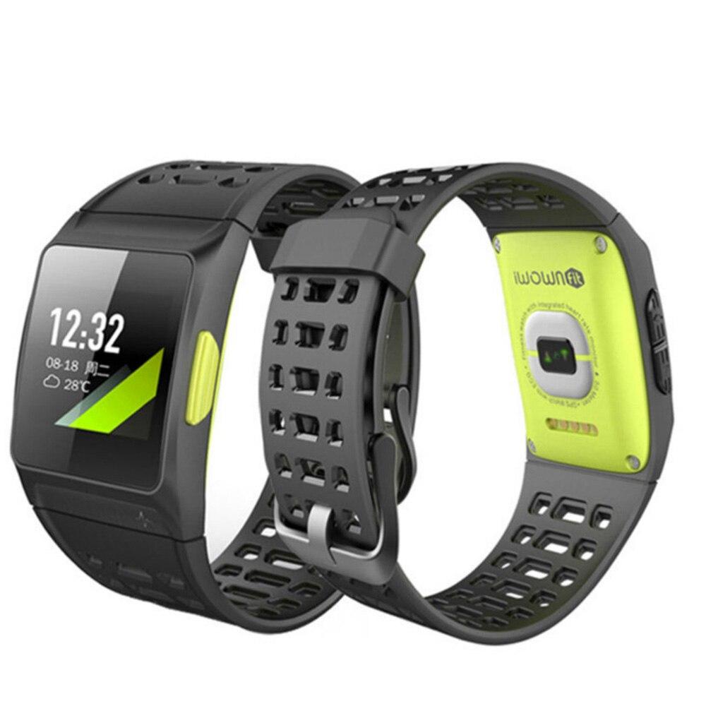 IWOWNfit iwown P1 Smart Watch Men Heart Rate GPS IP68 Waterproof Sports Wear Smart Watch Band Long-term Standby Men Smartwatch. Частота сердечных сокращений