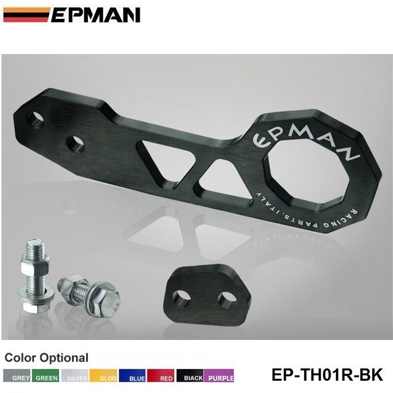 Заготовка алюминиевый задний буксировочный крюк Universalcar такой как для Skyline 200SX R33 S13 S14 EP-TH01R - Название цвета: Черный