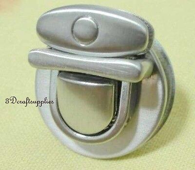 purse lock wallet Thumb latch tongue clasp nic 1 3/8 inch x 1 1/4 inch E60